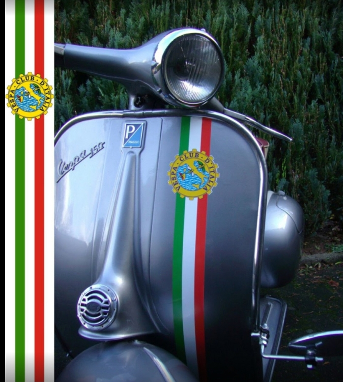 Aufkleber Set Italian Stripes Vespa Club D Italia Beinschild Vespa Gs Px